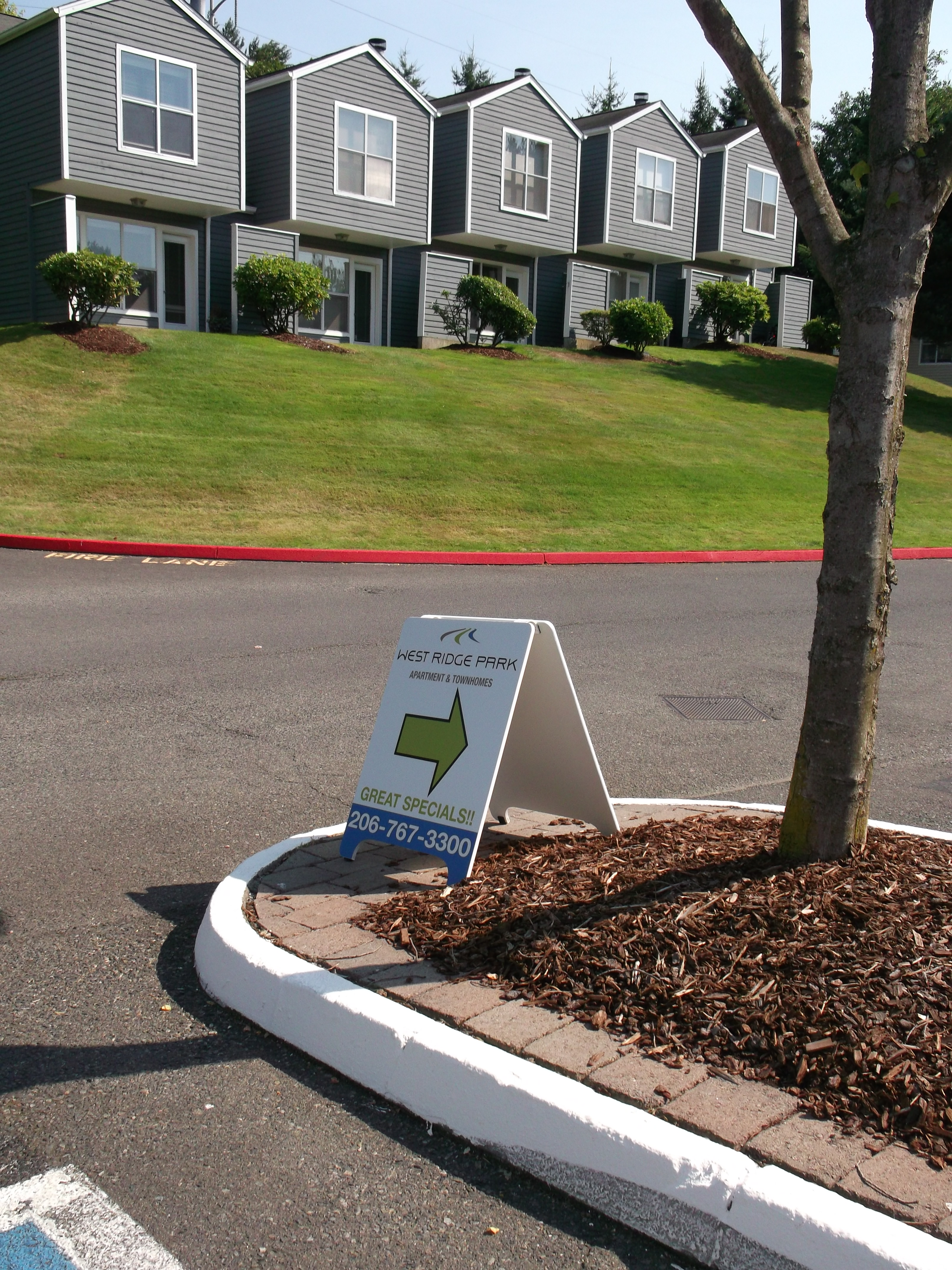 Banners and A-Boards Created for West Ridge Park Apartments and ...