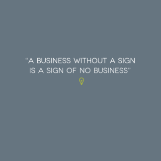 A Business Without A Sign